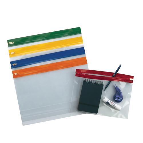 Snopake Assorted A5 Zippa Bags Pack of 25