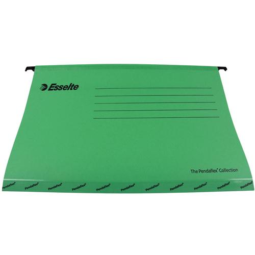 Esselte Classic Economy Suspension File Foolscap Green (Pk 25) 90337