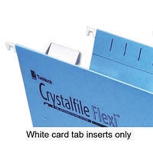 Rexel Crystalfile Flexi Tab Inserts White Pk 50 3000058