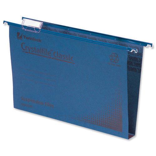 Rexel Crystalfile Classic Suspension File Complete 50mm Foolscap Blue Pk 50 71751