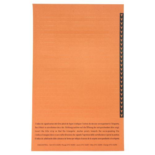 Esselte Orgarex Lateral Insert White With Orange Tip Pk 10x25 32690