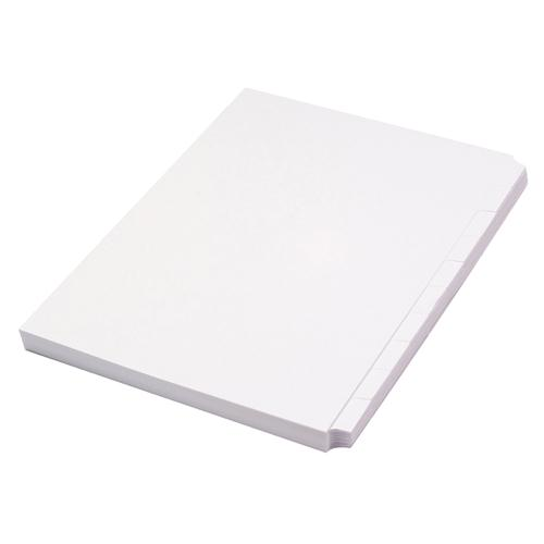 Concord Unpunched Presentation Divider A4 10-Part White 75801