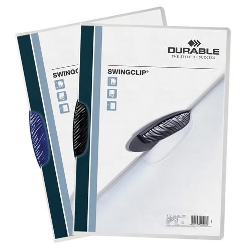 Durable Swingclip Folder A4 Black Pk 25 2260/01