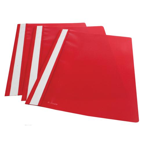 Esselte Report File A4 Polypropylene Red (Pk 25) 28316