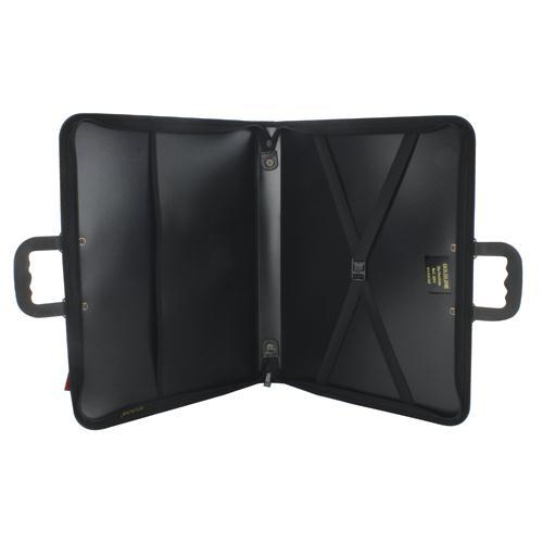 Goldline A2 Zip Portfolio Black ZPC/A2