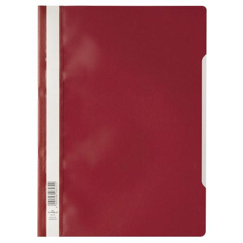 Elba Clearview Folder A4 Red (Pk 50) 400055034