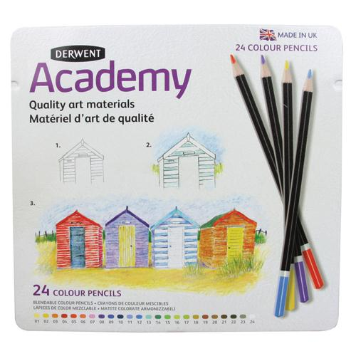 Rexel Derwent Academy Colouring Pencils Tin of 24 2301938