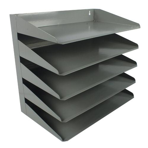 Avery 5-Tier Steel Letter Rack Grey 605