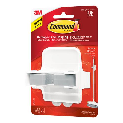 Command Broom Gripper White