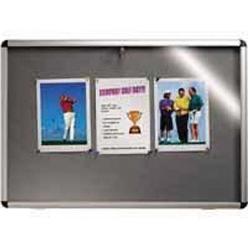 Nobo Lockable Visual Insert Board 1265x965mm Grey 31333501