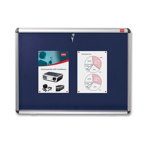Nobo Lockable Visual Insert Board 1200x900mm Blue 1902049