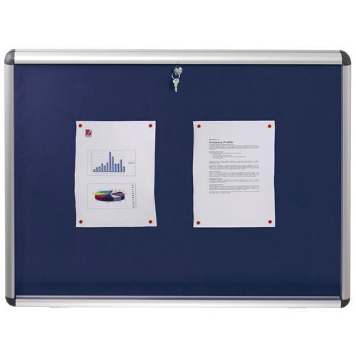 Nobo Lockable Visual Insert Board 965x665mm Blue 1902048
