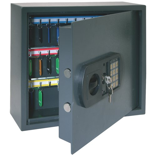 Helix High Security Key Cabinets With Electronic Key Pad 30 Keys Grey Ref CP9030