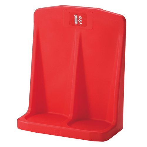 IVG Robust Moulded Double Fire Extinguisher Stand Red Ref IVGFSD Each