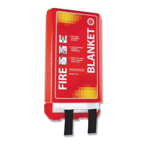 IVG Bsi Kitemarked 1 x 1m Fire Blanket In Hard Case Holder For All Appllications IVGsfblk Each
