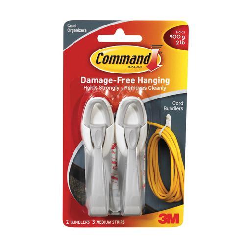 Command Adhesive Cord Bundlers Pk 2 17304