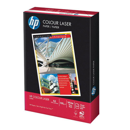 HP White 100gsm A4 Laser Printer Paper Ream of 500