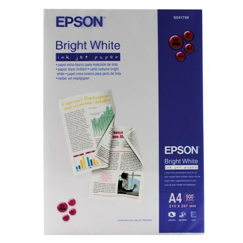 Epson Bright White 90gsm A4 Inkjet Printer Paper Ream of 500