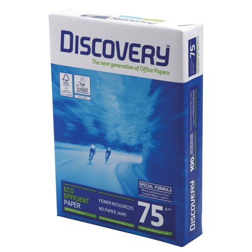 Discovery White 75gsm A4 Printer Paper Box of 5 Reams