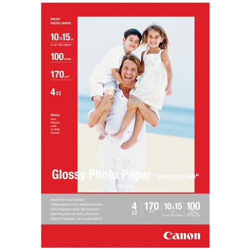 Canon Glossy Photo Paper 10x15cm Pk 100 GP-501 0775B003