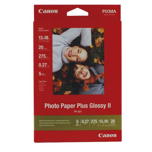 Canon Photo Paper Plus Glossy PP-201 13x18cm Pk 20 Sheets