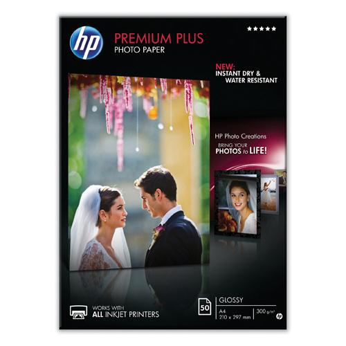 HP Photo Paper 300gsm Glossy A4 Pk 50 CR674A
