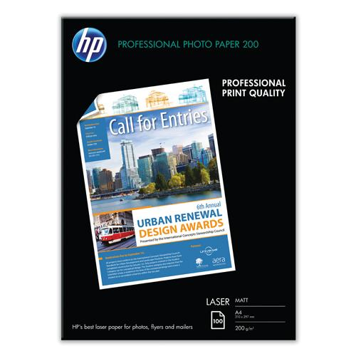 HP Laser Photo Paper Matte A4 White Pk 100 Q6550A