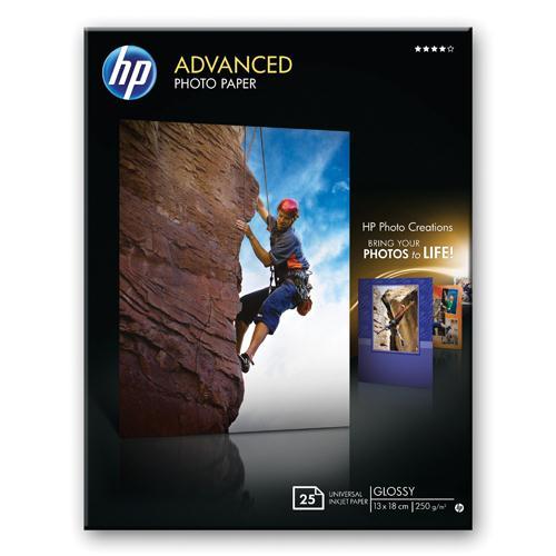 HP Glossy Photo Paper Borderless 13x18cm Pk 25 Q8696A