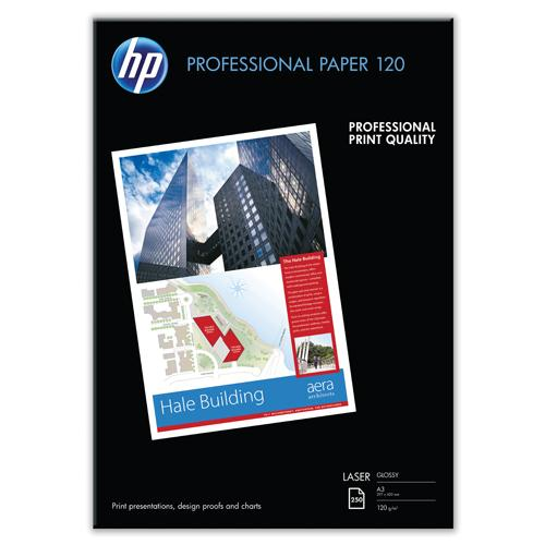 HP Professional Gloss Laser Photo Paper A3 120gsm Pk 250 CG969A