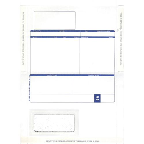 Pegasus Compatible 1-Part Hand-Seal Laser Payslip Mailer MS29S