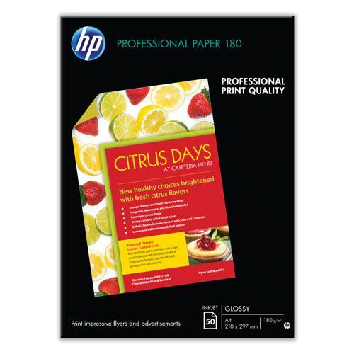 HP Brochure/Flyer Ppr Gloss A4 Pk50 297x420mm