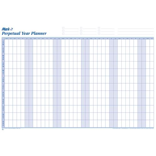 Map Marketing Mark-it Perpetual Year Planner Laminated PYP