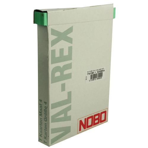 Nobo T-Card Size 4 Light Green Pk 100 32938924