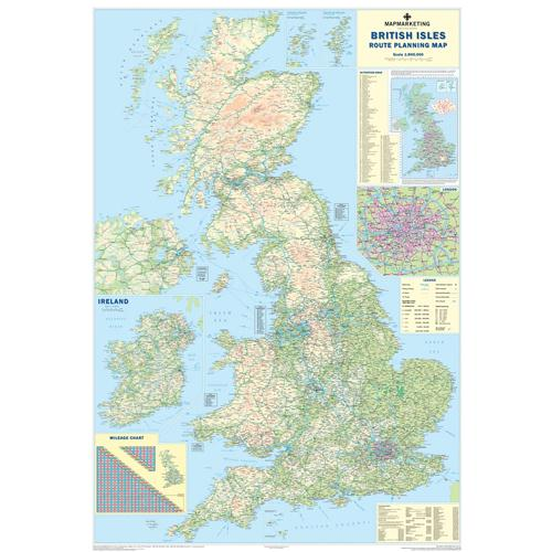 Map Marketing British Isles Motoring Laminated Map BIM