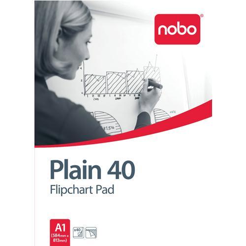 Nobo Plain White A1 Flipchart Pad Pack of 5