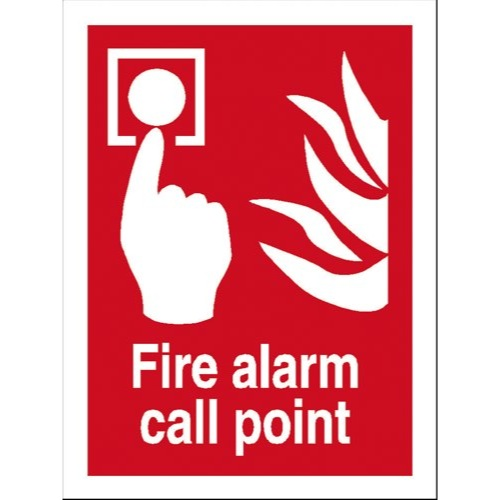 Fire Alarm Call Point Sign Self Adhesive Vinyl 150x200mm Ref FF073SAV Each