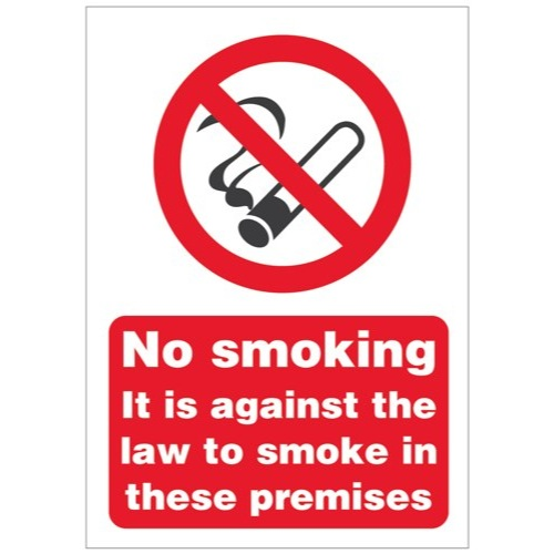 No Smoking In These Premises Sign Self Adhesive Vinyl Ref SB003SAV Each