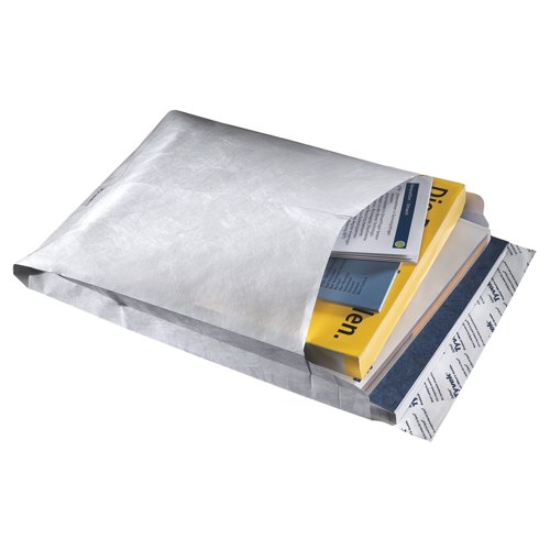 Tyvek Gusseted Envelopes Extra Capacity Strong C4 324x229x38mm White Pack 100 Ref TY02268