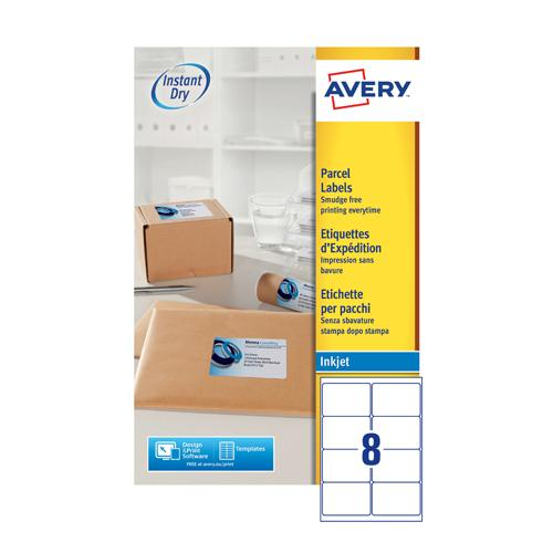 Avery QuickDRY Inkjet Label 99.1x67.7mm 8 per Sheet Pk 25 J8165-25