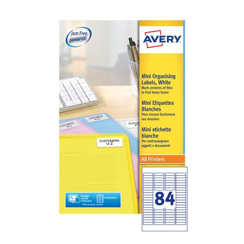 Avery Mini Label 84TV White L7656-100