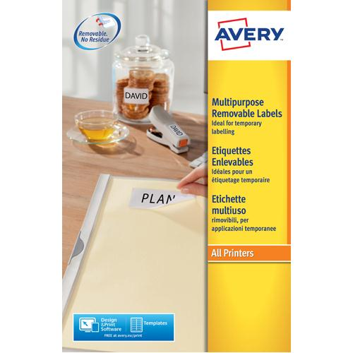 Avery Removable Labels L4736REV-25 25Sheet