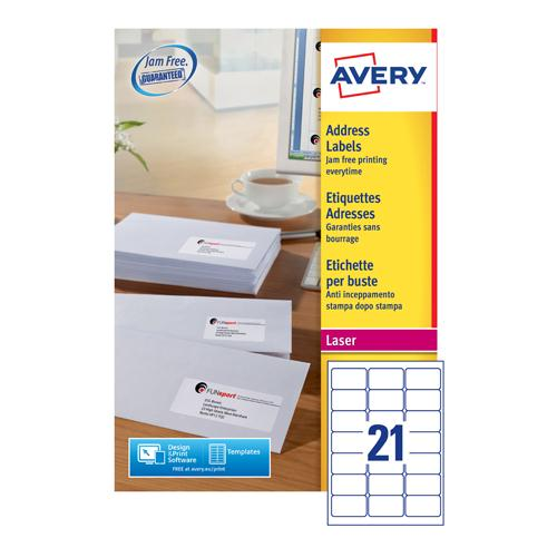 Avery Address Label White Pk500 L7160-500
