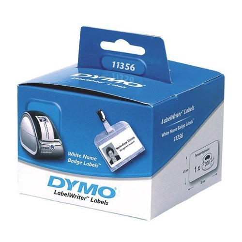 Dymo Labelwriter Labels Name Badge 41x89mm Box 300 Ref S0722560