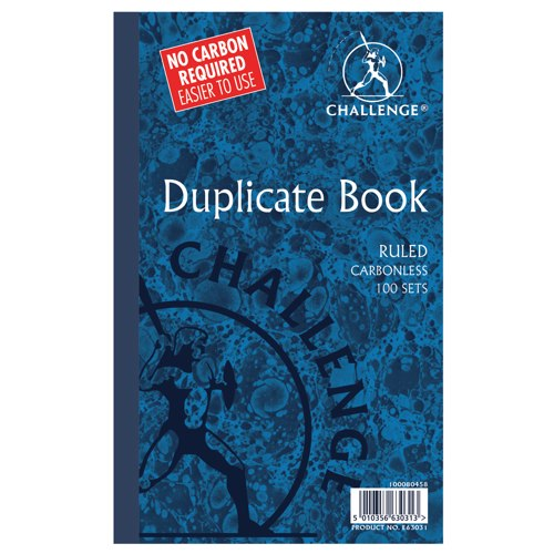Challenge Duplicate Book Carbonless Ruled 210x130mm Ref 100080458