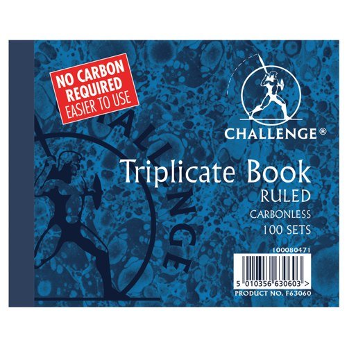 Challenge Triplicate Book Carbonless Ruled 105x130mm Ref 100080471
