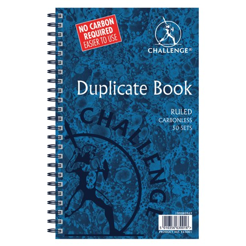 Challenge Duplicate Book Wirebound Carbonless Ruled 210x130mm Ref 100080469
