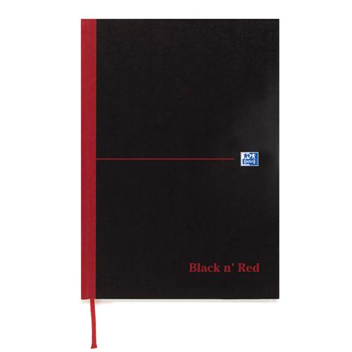 Black n' Red Casebound Book Recycled A5 90gsm 192 Pages 100080430