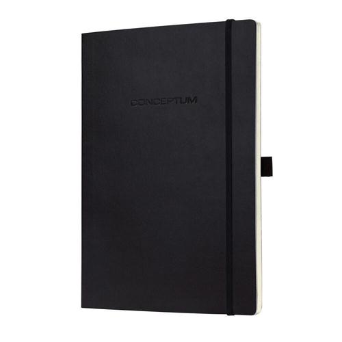 Sigel Conceptum Notebook Lined 135x210x13mm Black CO222