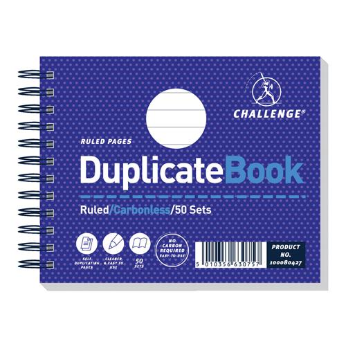 Challenge Duplicate Book Ruled Carbonless 50 Sets 105x130mm Pk 5 100080427