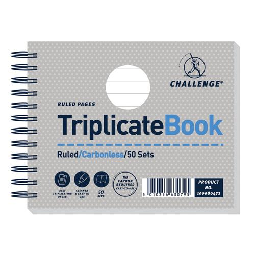 Challenge Triplicate Book Ruled Carbonless 50 Sets 105x130mm Pk 5 100080472